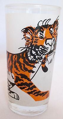 """Vintage Esso Tiger in Your Tank Exxon Frosted Gas Station Gift Glass 6"""" Sixties"""