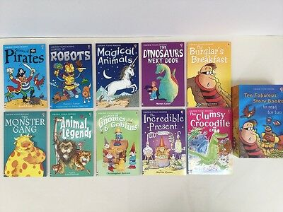 Children's USBORNE YOUNG READING. TEN FABULOUS STORY BOOKS Robots Dinosaurs
