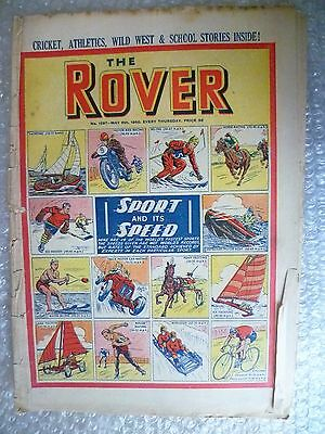 Comic- THE ROVER, No.1297, 6th May 1950 ; Sport and its Speed