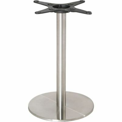 Bolero Stainless Steel Round Table Base Silver Restaurant Cafe Furniture