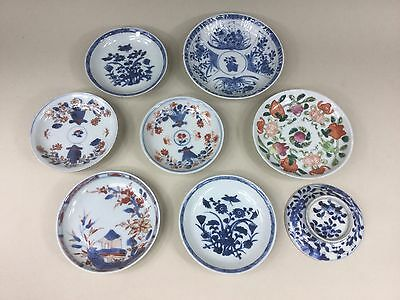 A Selection of 18th/19th C. Chinese Saucers / Small Plates and a Cover