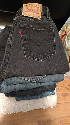 Wholesale LOT womens JEANS Lot of 5: DKNY, Levis, American Eagle OF, Stamp 10