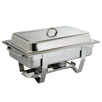 Pack of 2 Olympia Chafers 72 x Easy Heater 2 Hour Liquid Fuel Stainless Steel