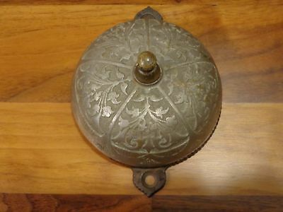 beautiful antique Bronze Victorian Eastlake pull chain doorbell, Pat'd 1879