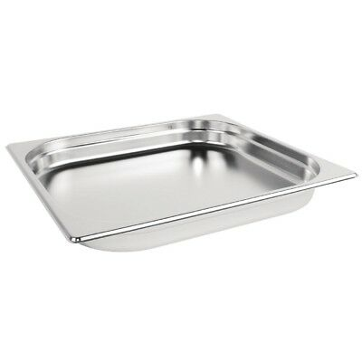 Vogue Stainless Steel 2/3 Gastronorm Pan 40mm Kitchen Container Food Storage