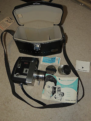Vintage BELL & HOWELL 8mm Movie Camera 414-414P Director Series Mint Condition