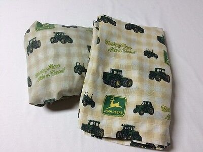 Nothing Runs Like A John Deere Green Yellow Flat And Fitted Twin Sheets Tractor
