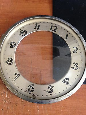 antique mantle clock bezel glass face with surround 6inch