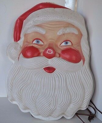 Vintage Christmas Santa Light Wall  Plastic