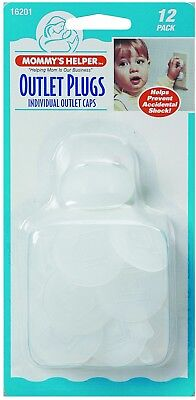 Mommy's Helper Outlet Plugs 12 Pack Electric Protector Cover For Baby Kids New