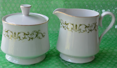 Vintage Bell Flower #2999 Creamer & Covered Sugar Bowl ** Free Shipping**