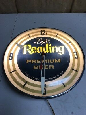 Vintage Pam Light Reading Beer Clock with Light