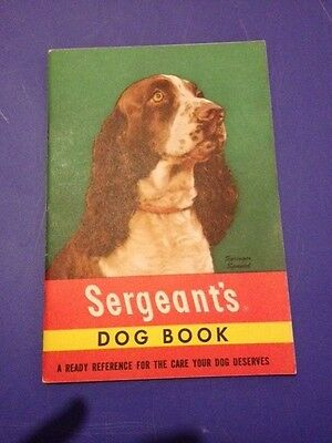 Sergeant's Dog Book-Vintage Dog Care Reference Book-Springer Spaniel Cover