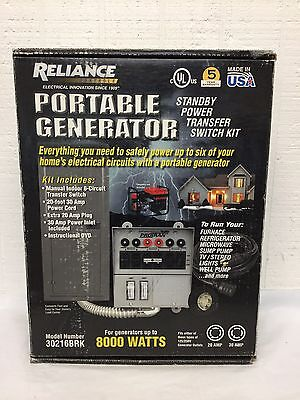 Reliance Back-Up Power Transfer Switch Kit Pre-Wired 6 Circuit Kit 30216BRK