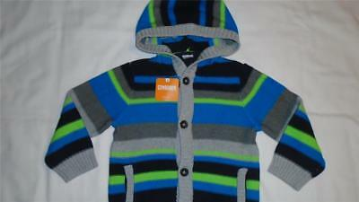 NEW Boys Size 3T Gymboree Sweater Slope Star Button Front Cardigan w/ Hood NWT