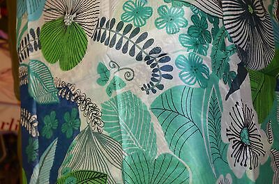 Antica Sartoria Scarf Green, Blue And White Flowers  Nwt 42 X 70 Inches