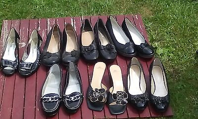 Women Black Shoe Lot Sz9@7pair