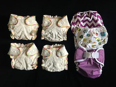 Heavy Wetter Baby Night Fitted Cloth Diaper with 2 Inserts, One Size 10-30lb