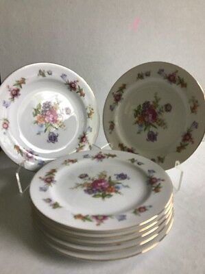 7 Went Worth China Dresdona Plates 7-5/8""