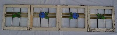 Long linking leaded light stained glass window set. R580. DELIVERY OPTIONS!