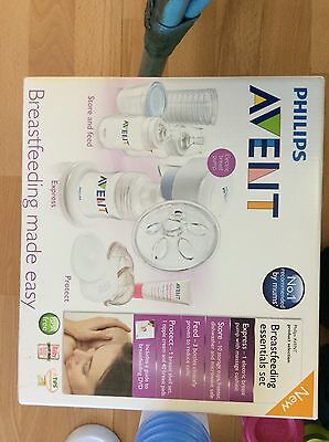 Avent Philips breast Pump Electric + Sterilizer, 12 Storage Cups + Botlles