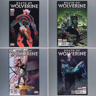 Death of Wolverine #1 2 3 4 First Print Limited Series Chromium Set NM