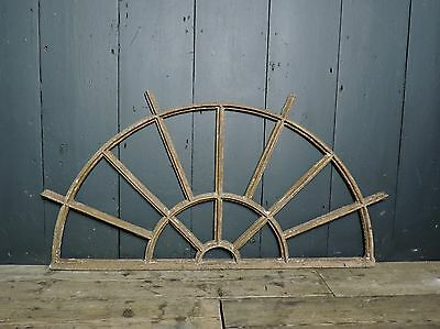 19th Century Victorian Industrial Cast Iron Fan Light Window Frame