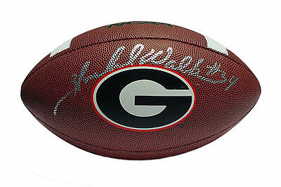 Herschel Walker Georgia Bulldogs Autographed Logo Football JSA Witnessed COA