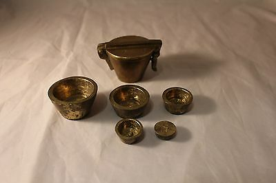 Brass Nesting Apothecary Scale Weight Set