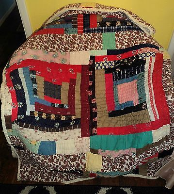 Great Hand-Stitched  Antique/Vintage Quilt ~ 1930's Maybe 1940's