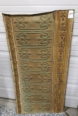 ANTIQUE TIN CEILING TILE 2x4 FEET 24x48 INCHES ART DECO METAL ORNATE VTG. B10