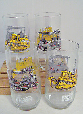NIB Set of four CATERPILLAR Glass Tumblers by Pepsi
