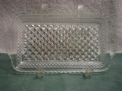 Vintage Anchor Hocking Wexford Pattern Cranberry Relish Dish Tray