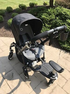 Bugaboo Bee3 All Black Trim W/ride On Board Seat And Cupholder