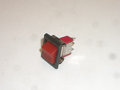 Net R3 Spdt On-On Snap-In Miniature Rocker Switch Red Handle 5A 125Vac