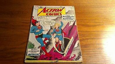 Action Comics 252 1st Supergirl And Metallo 1959 Superman Silver Age Nice Book!