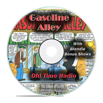 Gasoline Alley, and Blondie, 931 Old Time Radio Shows, Comedy Shows OTR, DVD G13