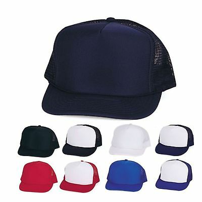5 LOT Foam Mesh 5 Panel Baseball Caps Hats YOUTH BOYS GIRLS KIDS WHOLESALE