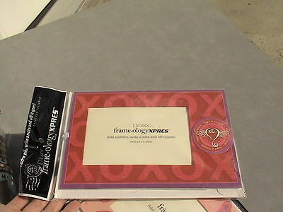 """red xoxo hugs and kisses frame for 4x6 photo """"card"""" with envelope"""