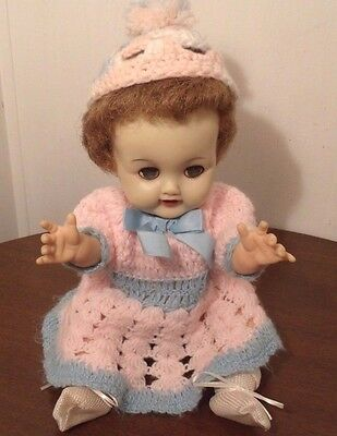 "1950's IDEAL BETSY WETSY DOLL 13"" VW-2 - jl"