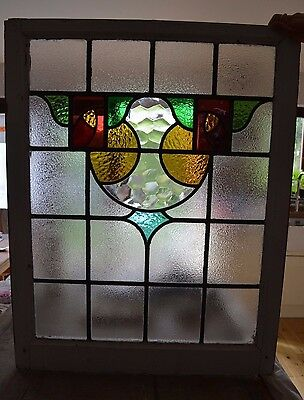 Large leaded light stained glass window. R553. WORLDWIDE DELIVERY!!!