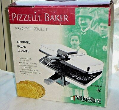 Villaware Nonstick Pizzelle Baker Prego Series Ii Excellent Used Condition
