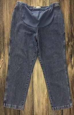 Tomorrow's Mother Maternity Pregnant Blue Jeans Pants Size XL Extra Large