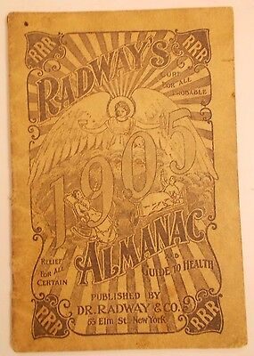 Radway's 1905 Almanac and Guide to Health