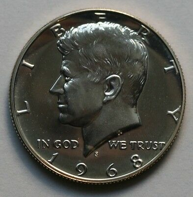 1968 S Kennedy Half Dollar Gem Cameo Proof 40% Silver US Coin