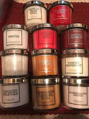 Bath and Body Works 4 oz tester candles