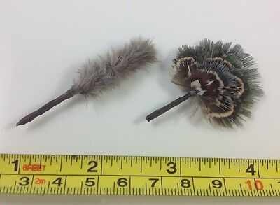 Dollhouse Miniature Duster and Antique Style Fashioned Hand Fan 1:12