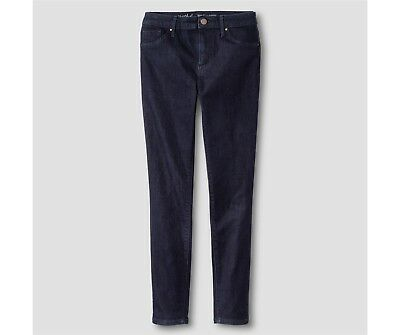 MOSSIMO High Rise Jeggings Jeans Power Stretch Sizes 00-0 Dark Rinse NEW