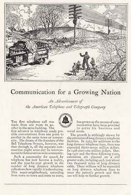 1927 American Telephone: Communication for a Growing Nation (14135) Print Ad