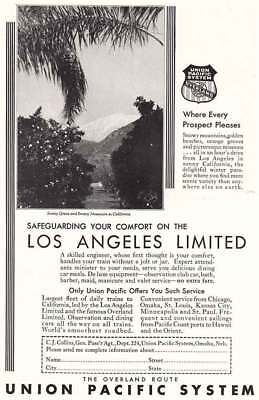 1931 Union Pacific: Los Angeles Limited (4494) Print Ad